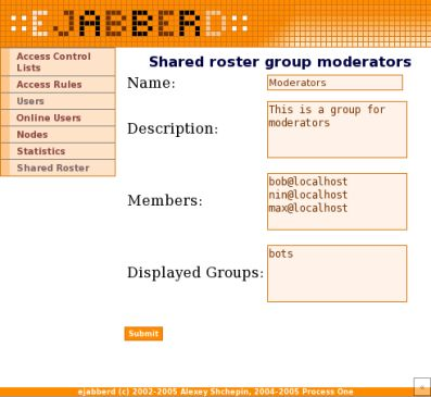 shared roster group moderators